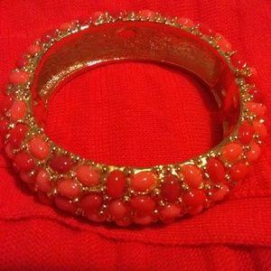 Kenneth Lane Coral carbochan bracelet
